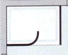 Duschabtrennung WALK IN Premium 1 - Rundelement+ Seitenwand