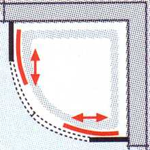 Vorschau: Runddusche FAVORIT NOVA 100 x 185