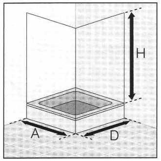 Masszeichnung Eckeinstieg 4-teilig  PREMIUM Classic - Maßanfertigung