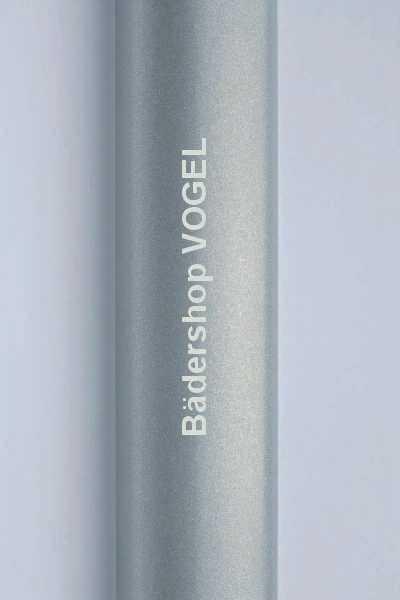 Detail: Profilfarbe Alu-Silber-Perleffekt