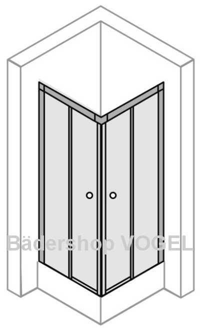 eckeinstieg echtglas 2 teilig breite 80 90 cm x h he 175 eckeinstieg mit echtglas. Black Bedroom Furniture Sets. Home Design Ideas