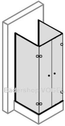 Duschkabine In U Form 4 Teilig Mit Drehfaltturen Massanfertigung