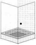 Duschwand mit einer Tür und Seitenwand anzeigen