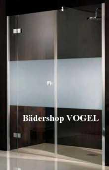 Drehtür ATELIER Breite 180 x H 200 mit festem Element für Nischeneinbau
