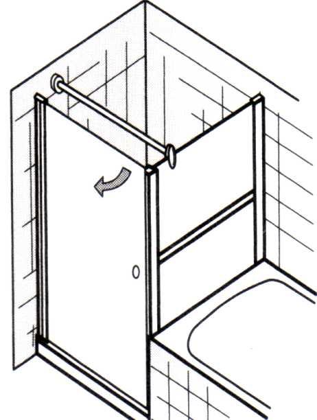 Vorschau: Drehtür EXKLUSIV Breite 75 cm bis 100 cm und verkürztes Seitenteil