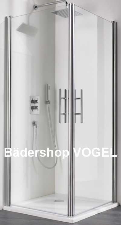 Dusche Eckeinstieg 2tlg. mit Drehtüren