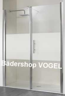 Duschabtrennung mit Festelement+ Drehtür für Nische bis 200 cm Breite anzeigen