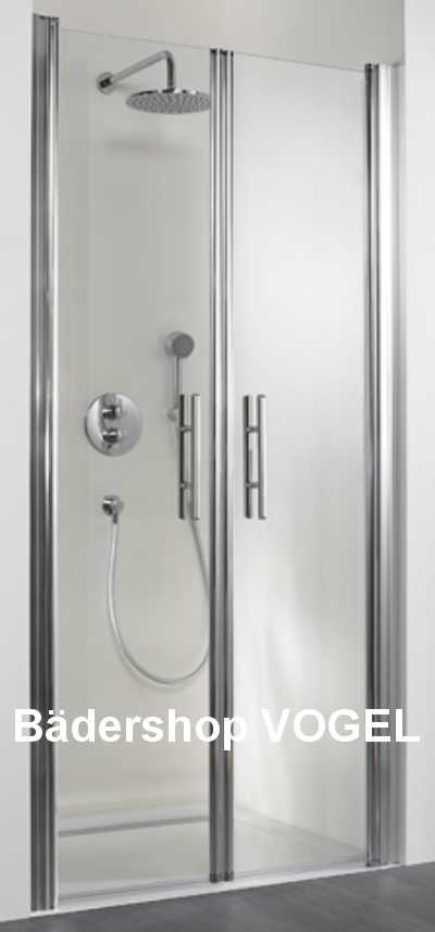 duschkabine mit pendelt r exklusiv 75 mit seitenteil f r aufbau neben der badewanne. Black Bedroom Furniture Sets. Home Design Ideas