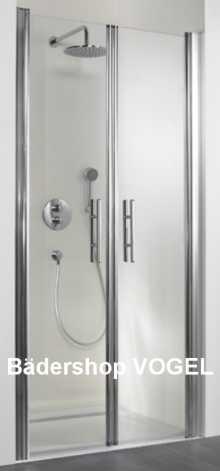 Duschabtrennung für die Nische mit Pendeltür  anzeigen