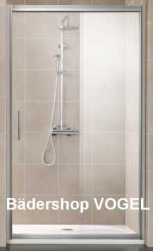 Duschwand Schiebetür 2-teilig FAVORIT MAßANFERTIGUNG bis Breite 160 cm