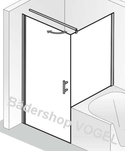 dreht r favorit nova b 100 und verk rztes seitenteil dusche neben der badewanne. Black Bedroom Furniture Sets. Home Design Ideas