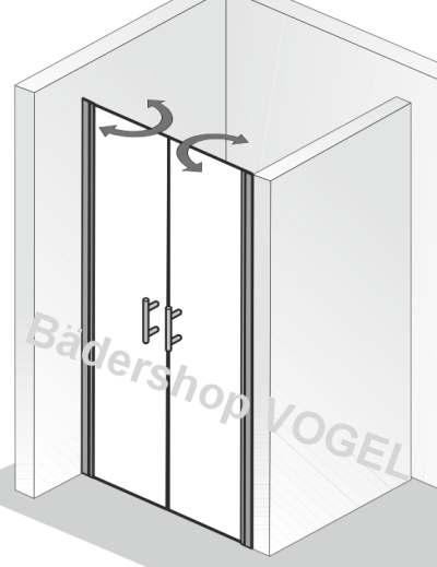 duschkabine pendelt r favorit nova 75 in nische alu silber matt. Black Bedroom Furniture Sets. Home Design Ideas