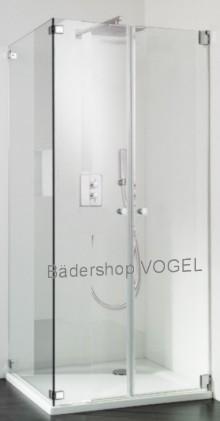 Duschkabine mit Pendeltür mit Seitenwand - Massanfertigung