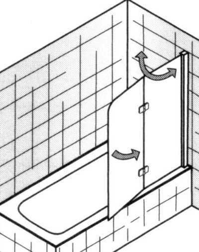 Badewannenaufsatz 2 tlg., schematisch