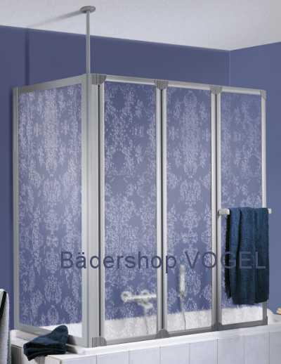 prima badewannen duschwand dreiteilig mit seitenteil ma anfertigung bis h he 160 cm. Black Bedroom Furniture Sets. Home Design Ideas