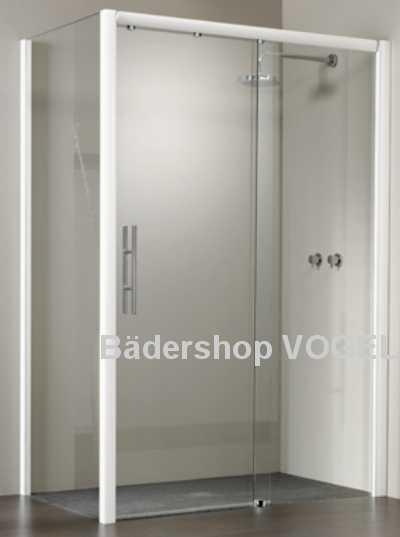 Duschkabine mit Gleittür 2teilig und Seitenwand
