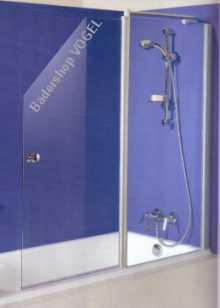Duschwand für Badewannen zweiteilig mit Festelement ...