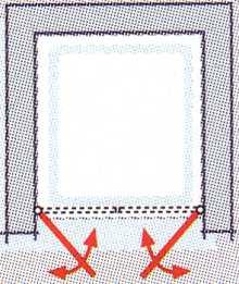 Pendeltür K2P in Breite 90 für Nische